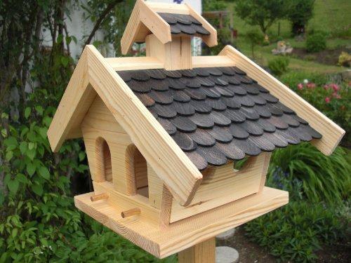 Vogelhaus-XL Schwarz-(V15)-Vogelhäuser Vogelfutterhaus Vogelhäuschen-aus Holz- Schreinerarbeit-