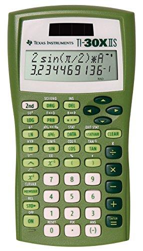 Texas Instruments TI-30X IIS 2-Line Solar/Battery-Powered Scientific Calculator, Lime Green