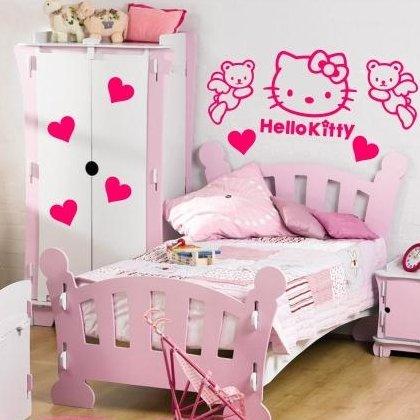 Sticker Bay Autocollant baie Hello Kitty Kit Autocollant mural Graphic en vinyle pour chambre d'enfant pour enfant