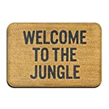 tiao9143 Alfombra de baño,Alfombra de Puerta,Welcome to The Jungle Super Absorbent Anti-Slip Mat Coral Carpet Carpet Door Mat Carpet Carpet Door Mat 60x40cm paintde Home Shower Mats