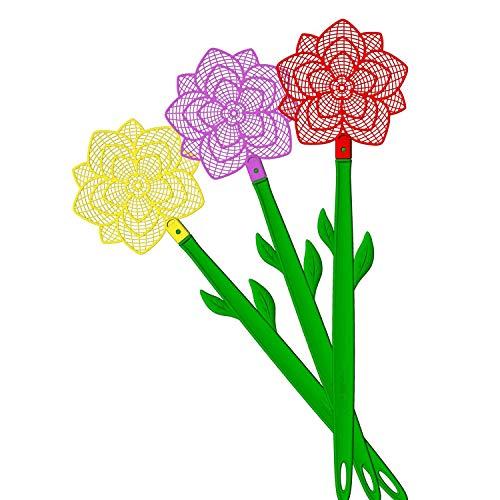 Bros Fliegenklatsche Blumenform Mehrfarbig Mix Sortiert