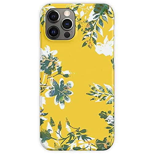 Fundas para teléfono Pure Clear TPU compatibles con iPhone 12/12 Pro MAX 12 Mini 11 Pro MAX SE X XS MAX XR 8 7 6 6s Plus Funda-Flowers Floral Cover Grey Tablet Yellow Ultimate Skin Illuminating