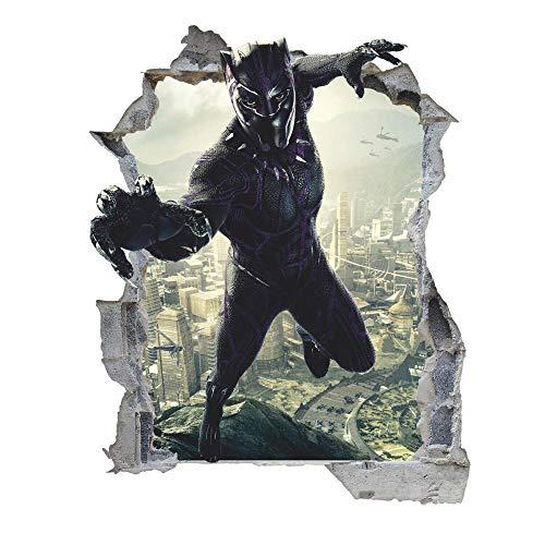 """""""muursticker Black Panther 3d muursticker muursticker, verwijderbare vinylsticker""""-80 * 120CM"""