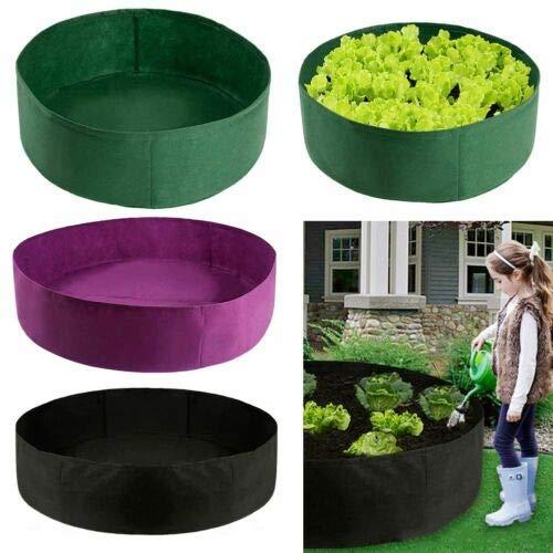 Dr. Li Erhöhte Gartenbetten für Gemüse, Erhöhtes Stoffbett Erhöhte Gemüsekiste Gartenpflanzung Pflanzgefäß Blumenzuchtbeutel (70 * 30cm, Round Green)
