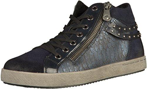 Remonte Damenschuhe D5273 Damen Stiefeletten, Stiefel, Boots blau (Pilot/Navy/royal/Ozean/Pazifik / 15), EU 39