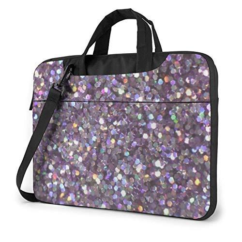 Sequin Pattern Printed Laptop Shoulder Bag,Laptop Case Handbag Business Messenger Bag Briefcase