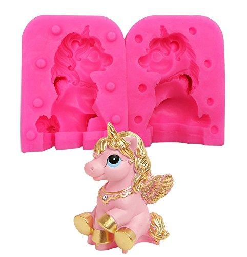 Moldes de silicona para decoración de tartas, diseño de unicornio, para decoración de tartas y chocolates.