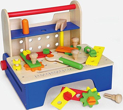 Viga Toys - 59869 - Jeu D'imitation - Outil Et Établi Portable - Pliable