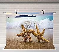 Xサマービーチの写真の背景ハワイの海辺のヒトデ夏のパーティーの写真の背景ベビーシャワーのビデオスタジオの写真の背景7x5ftBJSYFU185