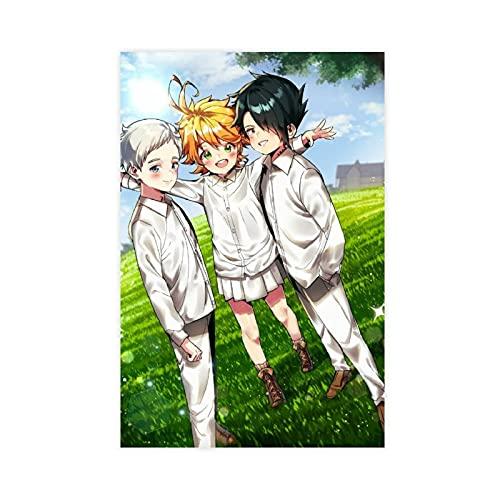 Poster su tela, motivo: Anime The Promised Neverland 4, decorazione da parete per soggiorno, camera da letto, decorazione senza cornice: 30 x 45 cm