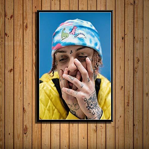 zlhcich Rap Hip Hop Singer Art Painting Wall home decoration Artworks 30 50 * 70