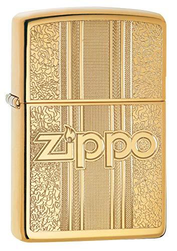 Zippo And Pattern Design, Accendino Antivento Unisex-Adulto, Ottone Lucido, Standard