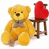 GURUDEV Teddy Bear Toy (6 Feet, Yellow)