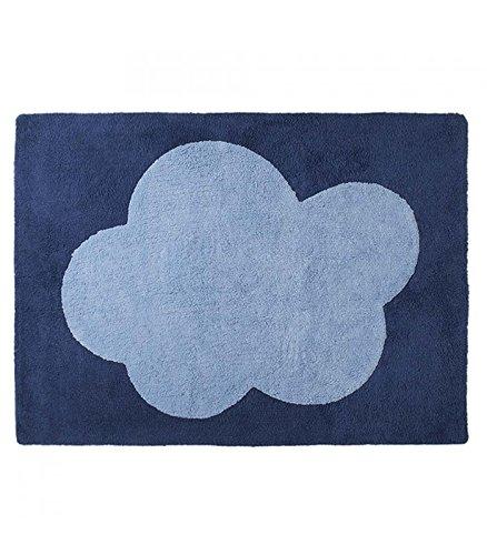 Happy Décor enfants Tapis lavable (120 x 160 cm, Bleu foncé/bleu, Big Cloud)