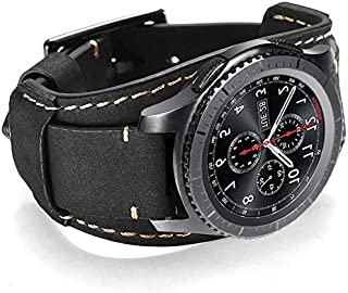 Hepsun Compatible with Samsung Galaxy Watch 46mm/Watch 3 45mm/Gear S3 Frontier/Classic/Pebble Time/Garmin 945/Vivoactive 4...