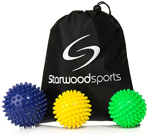 Starwood Sports Spiky Massage Ball Rollers en Lacrosse Ballen voor Myofascial Release en Trigger Point Therapy - Kies een Set of Single Ball
