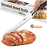 Orblue Serrated Bread Knife Ultra-Sharp...