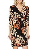 comma Damen 85.899.82.5701 Kleid, 99C2 Black floral Print, 38