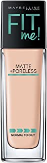 Maybelline New York Fit Me Matte+Poreless Liquid Foundation, 115 Ivory, 30ml