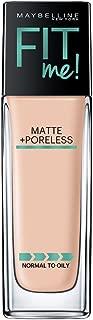 Maybelline New York Fit Me Matte+Poreless Liquid Foundation, 115 Ivory, 30ml