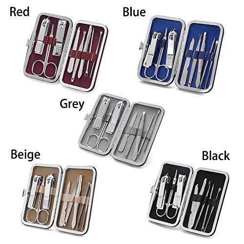 Gbcyp 8 Stuks/set Multifunctionele Nagelknipper Set Roestvrijstalen Pedicure Schaar Pincet Manicure Set Tool Set Manicure Tool, 2