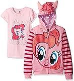 My Little Pony Sweat-shirt à capuche avec fermeture éclair pour fille Pinkie Pie - Rose - 3 ans