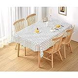 Wachstuch-Tischdecke Abwaschbar Garten-Tischdecke Wachstischdecke PVC Plastik-Tischdecken Wasserabweisend Abwischbar 140x180 cmWeiß - 2