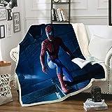 Couverture RHX - Plaid - Doux et chaud - Doux et confortable - Avec toucher cachemire de qualité supérieure - Confortable, confortable - Plaid moelleux - Couverture Spiderman, 15, 100*140CM