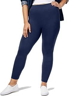 First Looks Women's Plus Size Seamless Leggings, Navy, 2X