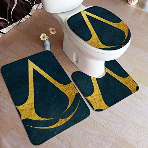 A-ssassin's C-Reed Suite - Juego de alfombrillas antideslizantes para baño (3 piezas, 50 x 80 cm)
