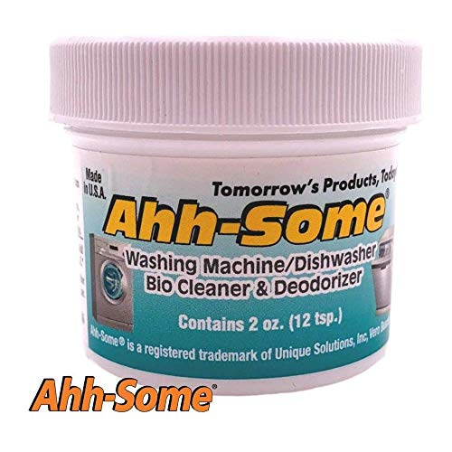 Ahh-Some - Washing Machine Bio Cleaner & Dishwasher Cleaner -Works For All Washer Top & Front Loaders Front Removes Odor, Residue, Mold, Mildew, And Fungi
