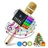 ERAY Karaoke Mikrofon Kinder, Bluetooth 4.1, Android /iOS, PC, Karaoke Mikrophon Ideal für Musik abspielen und singen