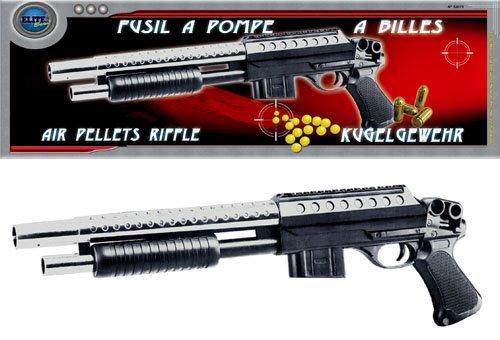 Nerd Softair-Pistole Softair-Gewehr 44 cm Pumpgun für Kinder Kinder-Spielzeug schwarz 6 mm Air-Soft unter 0,5 Joule ab 14 Jahre