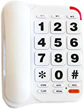 Large Button Phone for Seniors, HePesTer HP-46 Amplified Corded Phone with Louder Volume/Speed Dial/SOS Emergency/Wall Mountable Function