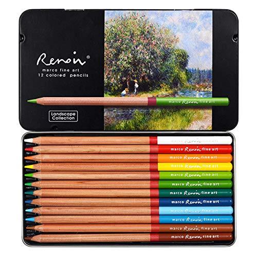 PUK 12 Farben Pflanzenfigur Pflanzenlandschaft Farben Bleistift handbemalte ölige Buntstifte Professionelle Zeichnung Farbstifte, Zeichenfarbe