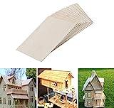 12 piezas de hojas de madera de balsa, Madera natural inacabada para aviones de la casa Barco Barco DIY Modelo de placa de madera, Proyectos artesanales y escolares. (100x200x1.5mm)