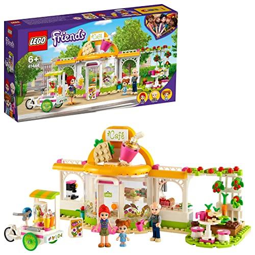 LEGO Friends Il Caffè Biologico di Heartlake, Set Educativo con 3 Mini Bamboline, Giocattoli per Bambini di 6 Anni, 41444