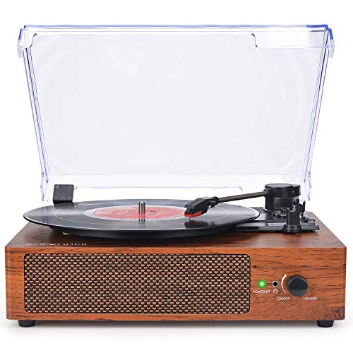 Our #5 Pick is the Wockoder Record Player Turntable Wireless Portable LP Phonograph