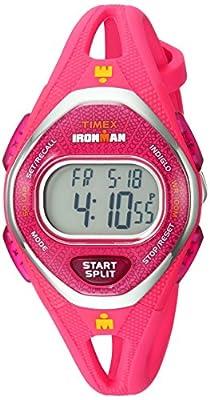 Timex Women's TW5M10700 Ironman Sleek 50 Pink Silicone Strap Watch from Timex