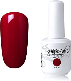 Elite99 Gel Nail Polish Soak off UV LED Nail Lacquers Varnish Nail Art Manicure 15ML (1539 - Red)