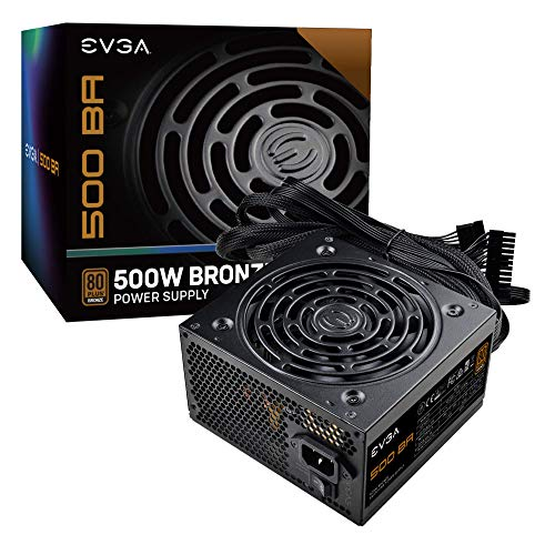 EVGA 500 BA, 80+ BRONZE 500W, 3 Year Warranty, Power Supply 100-BA-0500-K1
