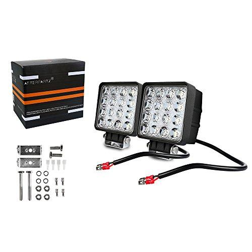 AFTERPARTZ D4 2AFTERPARTZ 48W LED Arbeitsscheinwerfer Reflektor Auto Beleuchtung Scheinwerfer Arbeitslicht (Flutlicht), F1 Flut