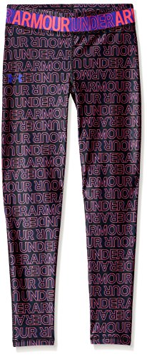 Under Armour Girls' Youth Heatgear Novelty Leggings,  Black (002),  Youth Medium