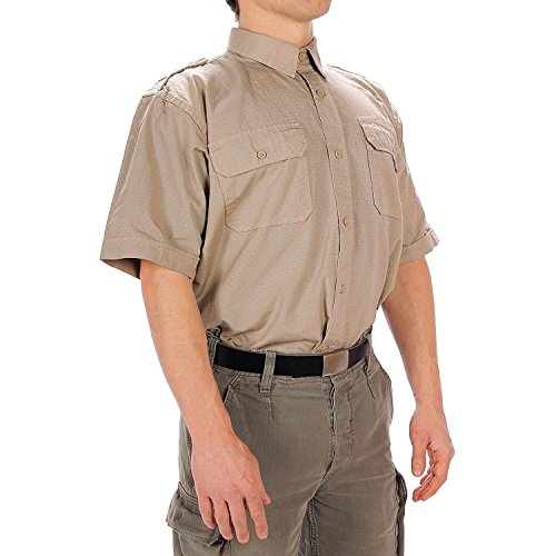Camisa Tropical manga corta Mil-Tec, color Kaki - kaki, tamaño L