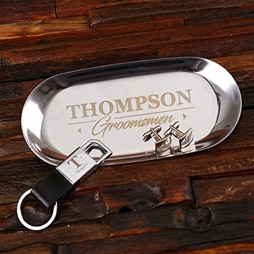 Custom Steel Valet San Francisco Mall Tray Set and Matching cufflinks Super sale period limited keychain With