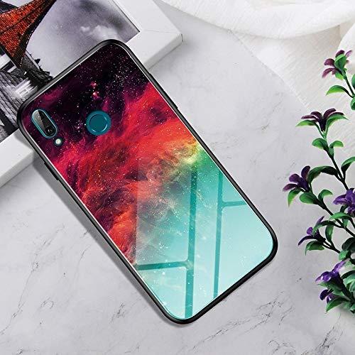 Ebogor para Huawei Honor 10 Lite Case, Vidrio Templado a Prueba de Golpes + Funda Protectora TPU (Nebulosa Colorida) (Color : Colorful Nebula)