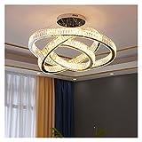 YSJSPOL Iluminación de Techo Lámpara Colgante de la lámpara de araña LED de Cristal Moderno LED de Lujo Luz de Colgante para la Sala de Estar Luminaria Luminaria Luz 110V-220V