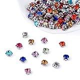 PandaHall - Perline da cucire per abiti fai da te, vestiti, scarpe, borse Colore misto: 6 x 6 mm.
