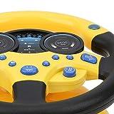 Qirg Juguete de Volante, múltiples Formas de Jugar Potente succión de conducción Juguete de imitación para niños Regalos de cumpleaños para Juegos en Interiores para niños(Yellow, Santa Claus)