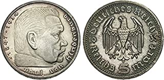 Germany -- Silver 5 Reichsmark -- 1933-1936